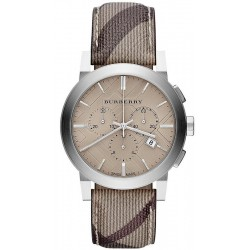 Buy Men's Burberry Watch The City Nova Check BU9361 Chronograph