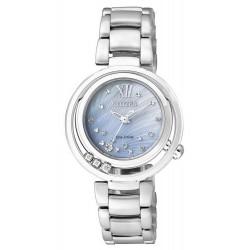 Buy Women's Citizen Watch Eco-Drive EM0321-56D Diamonds Mother of Pearl
