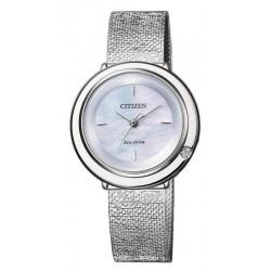 Buy Women's Citizen Watch Ambiluna Eco-Drive EM0640-82D Diamond Mother of Pearl