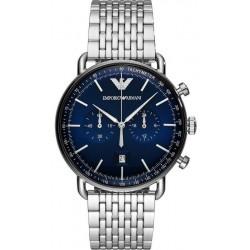 Buy Men's Emporio Armani Watch Aviator AR11238 Chronograph