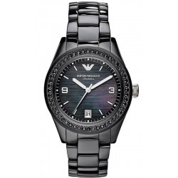 Buy Women's Emporio Armani Watch Ceramica AR1423 Mother of Pearl
