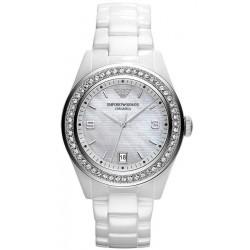 Buy Women's Emporio Armani Watch Ceramica AR1426 Mother of Pearl