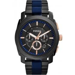 Men's Fossil Watch Machine FS5164 Quartz Chronograph