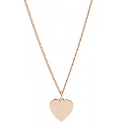 Women's Fossil Necklace Vintage Iconic JF03021791 Heart