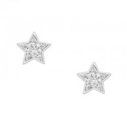 Buy Women's Fossil Earrings Sterling Silver JFS00152040 Star
