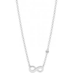 Women's Fossil Necklace Sterling Silver JFS00394040