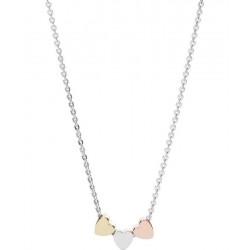 Buy Women's Fossil Necklace Sterling Silver JFS00400998 Heart