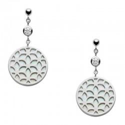 Buy Women's Fossil Earrings Sterling Silver JFS00461040 Mother of Pearl