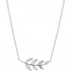 Women's Fossil Necklace Sterling Silver JFS00485040