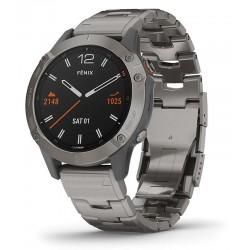 Buy Mens Garmin Watch Fēnix 6 Sapphire 010-02158-23 GPS Multisport Smartwatch