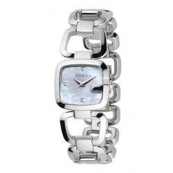 Buy Women's Gucci Watch G-Gucci Small YA125502 Diamonds Mother of Pearl