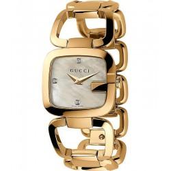 Buy Women's Gucci Watch G-Gucci Small YA125513 Diamonds Mother of Pearl