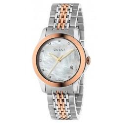 Buy Women's Gucci Watch G-Timeless Small YA126514 Diamonds Mother of Pearl