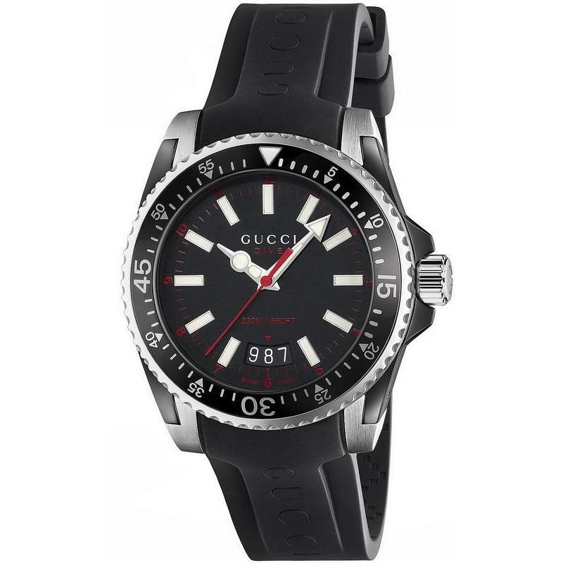 3bdcb38d829 Men s Gucci Watch Dive L YA136303 Quartz - Crivelli Shopping