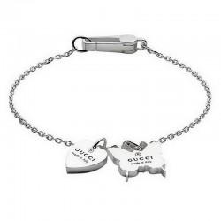Women's Gucci Bracelet Trademark YBA223516001020 Heart and Butterfly