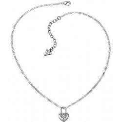 Buy Women's Guess Necklace Love Lock UBN51449 Heart