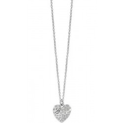 Buy Women's Guess Necklace Glossy Hearts UBN51471 Heart
