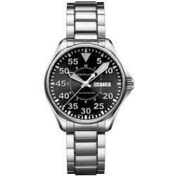 Men's Hamilton Watch Khaki Aviation Pilot Day Date Auto H64425135