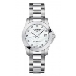 Buy Women's Longines Watch Conquest Classic L32774876 Diamonds Mother of Pearl