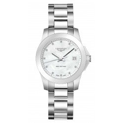 Buy Women's Longines Watch Conquest L33774876 Diamonds Mother of Pearl