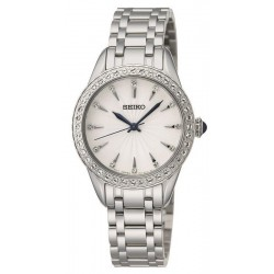 Women's Seiko Watch Swarovski Crystals SRZ385P1 Quartz