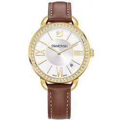 Buy Women's Swarovski Watch Aila Day Brown Yellow Gold Tone 5095940