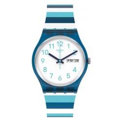 Unisex Swatch Watch Gent Striped Waves GN728