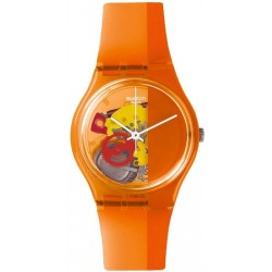 Buy Unisex Swatch Watch Gent Bloody Orange GO116