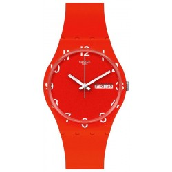 Unisex Swatch Watch Gent Over Red GR713