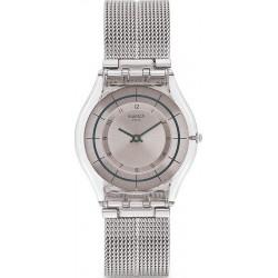 Women's Swatch Watch Skin Classic Sky Net SFE109M