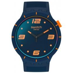 Swatch Watch Big Bold Futuristic Blue SO27N110