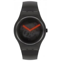 Unisex Swatch Watch New Gent Black Blur SUOB183