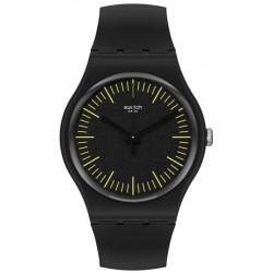Unisex Swatch Watch New Gent Blacknyellow SUOB184