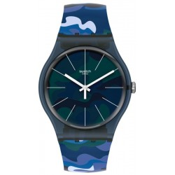 Unisex Swatch Watch New Gent Camouclouds SUON140