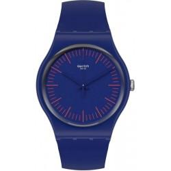 Unisex Swatch Watch New Gent Bluenred SUON146