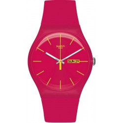 Women's Swatch Watch New Gent Rubine Rebel SUOR704