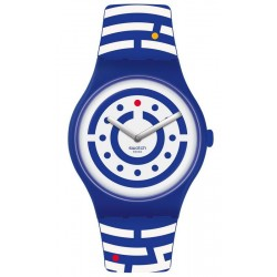 Buy Unisex Swatch Club Watch New Gent Follow The Dots SUOZ279