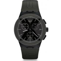 Men's Swatch Watch Chrono Plastic X-District Green SUSB414 Chronograph
