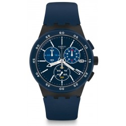 Buy Men's Swatch Watch Chrono Plastic Blue Steward SUSB417 Chronograph