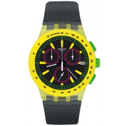 Buy Unisex Swatch Watch Chrono Plastic Yel-Lol SUSJ402 Chronograph