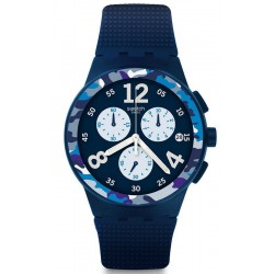 Buy Men's Swatch Watch Chrono Plastic Camoblu SUSN414 Chronograph