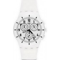 Buy Unisex Swatch Watch Chrono Plastic Twice Again White SUSW402 Chronograph
