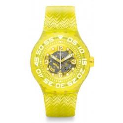 Unisex Swatch Watch Scuba Libre Lemon Profond SUUJ101