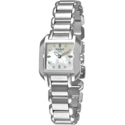 Women's Tissot Watch T-Lady T-Wave T02128574 Diamonds Mother of Pearl