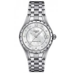 Buy Women's Tissot Watch Powermatic 80 T0722071111600 Diamonds Mother of Pearl